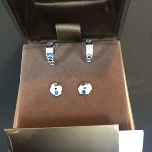 18kt Gucci Icon Diamond Earrings with box
